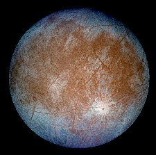 Jupiter's Moon Europa  (NASA/JPL)